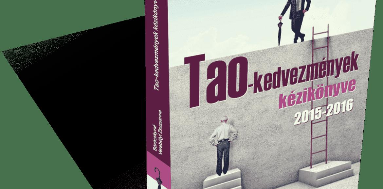 KÖNYVELŐZÓNA - TAO kedvezmények kézikönyve 2015-2016 (Adónavigátor könyvek)