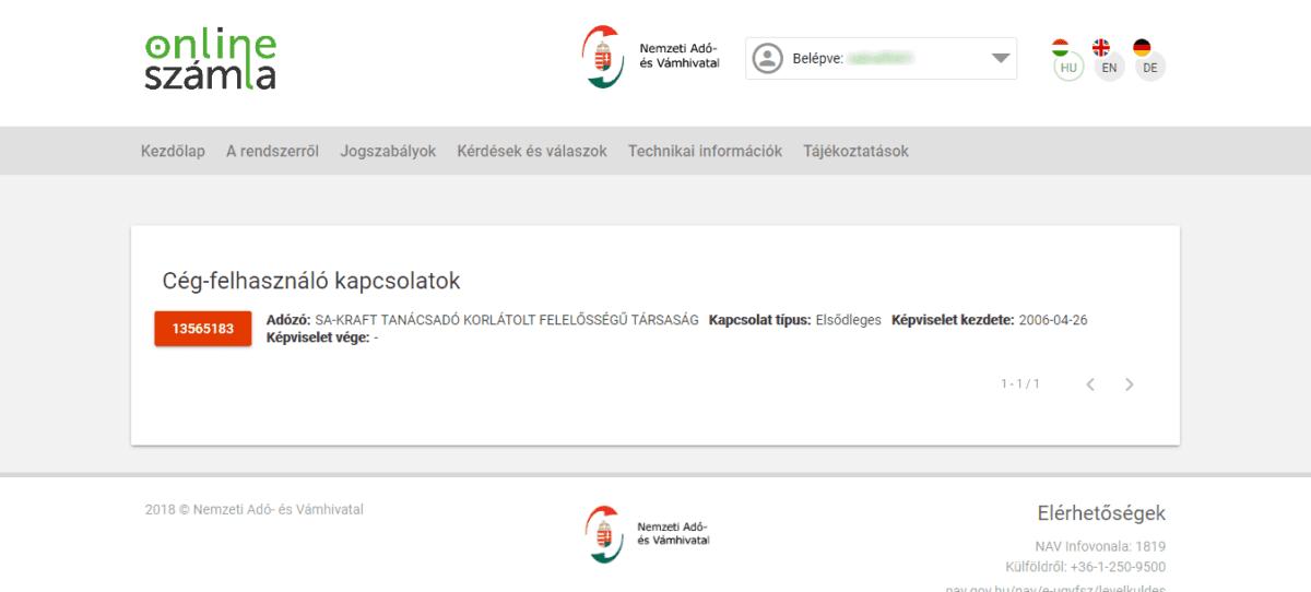 könyvelőzóna útmutató: NAV kötelező adatszolgáltatás regisztráció, az első bjelentkezés