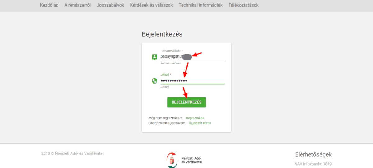 könyvelőzóna útmutató: NAV kötelező adatszolgáltatás regisztráció, az első belépés